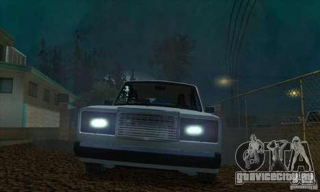 ВАЗ 2107 Аквариум для GTA San Andreas вид изнутри