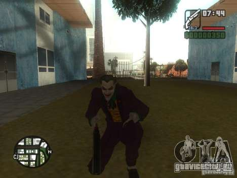 HQ Joker Skin для GTA San Andreas третий скриншот