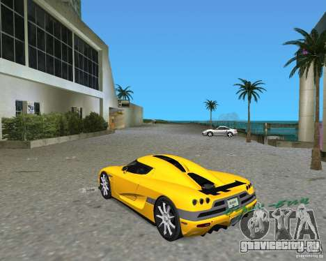 Koenigsegg CCX для GTA Vice City вид слева