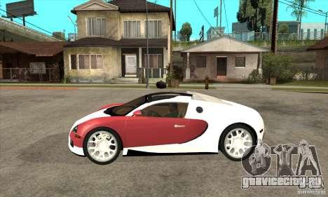Bugatti Veyron Grand Sport для GTA San Andreas вид слева