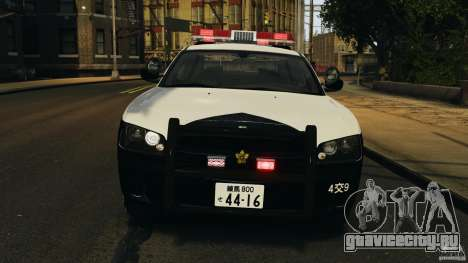 Dodge Charger Japanese Police [ELS] для GTA 4 вид сбоку