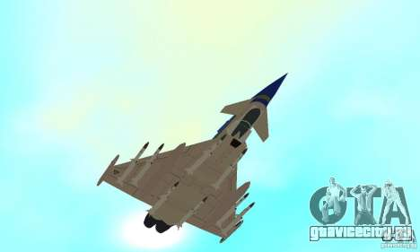 Eurofighter 2010 для GTA San Andreas вид сбоку