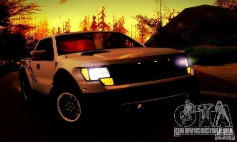 Ford F-150 SVT Raptor V1.0 для GTA San Andreas вид снизу