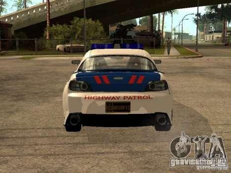 Mazda RX-8 Police для GTA San Andreas вид сзади слева