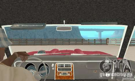 Pontiac Firebird 1968 для GTA San Andreas вид изнутри