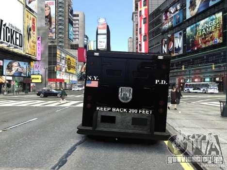SWAT - NYPD Enforcer V1.1 для GTA 4 вид сзади слева