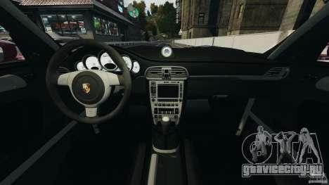Porsche 997 GT2 Body Kit 1 для GTA 4 вид сзади