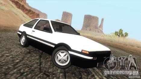 Toyota Sprinter Trueno AE86 GT-Apex для GTA San Andreas вид слева