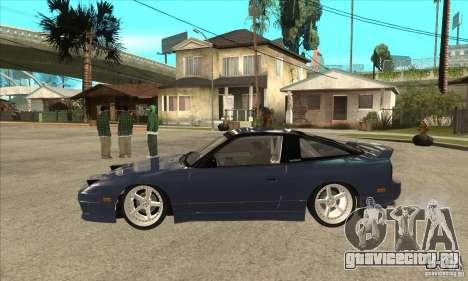 Nissan 180SX Turbo JDM для GTA San Andreas вид слева