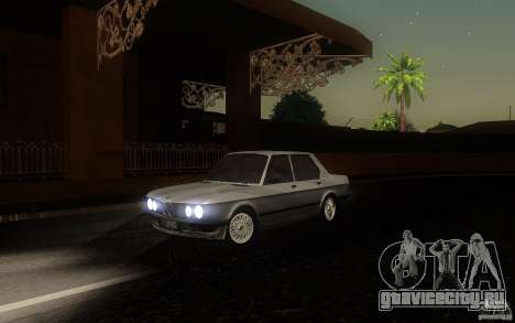 BMW E28 525e ShadowLine Stock для GTA San Andreas вид слева