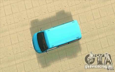 Volkswagen Caravelle для GTA San Andreas вид сзади