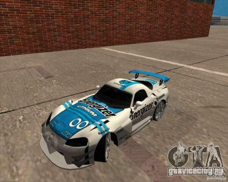 Dodge Viper Energizer для GTA San Andreas вид сзади слева