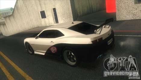 Chevrolet Camaro SS Dr Pepper Edition для GTA San Andreas салон