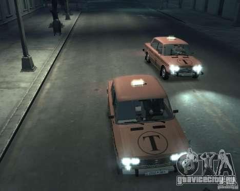 ВАЗ 2106 Такси для GTA 4 вид сверху