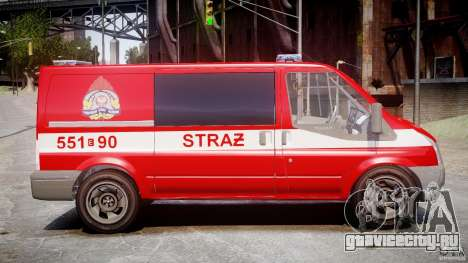 Ford Transit Polish Firetruck [ELS] для GTA 4 вид сзади