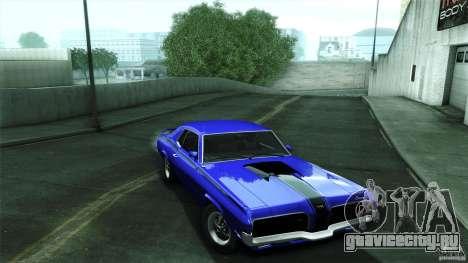 Mercury Cougar Eliminator 1970 для GTA San Andreas вид сзади