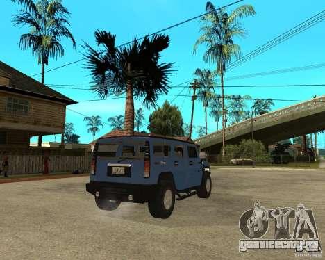 AMG H2 HUMMER для GTA San Andreas вид сзади слева