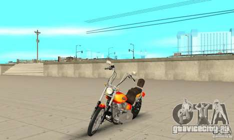 Harley Davidson softail Skin 2 для GTA San Andreas