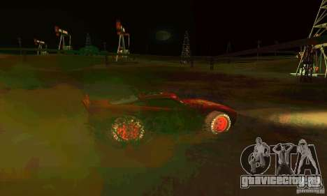 MCQUEEN from Cars для GTA San Andreas вид сверху