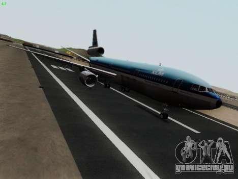 McDonell Douglas DC-10-30 KLM Royal Dutch для GTA San Andreas вид слева