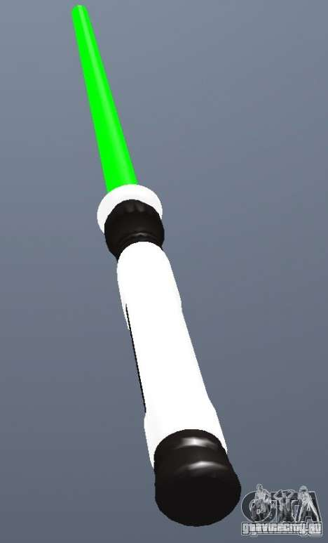 Lightsabre v2 Master(green) для GTA San Andreas второй скриншот