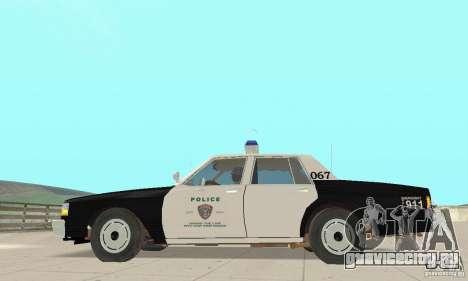 Chevrolet Caprice Interceptor 1986 Police для GTA San Andreas вид слева