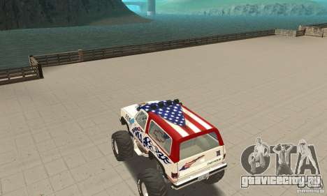 Chevrolet Blazer K5 Monster Skin 7 для GTA San Andreas вид сзади слева