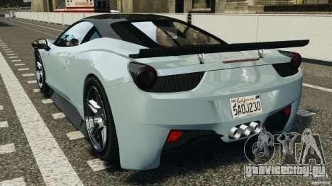 Ferrari 458 Italia 2010 [Key Edition] v1.0 для GTA 4 вид сзади слева