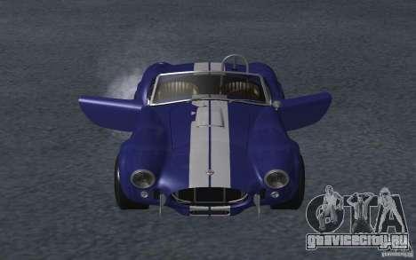 Shelby Cobra 427 для GTA San Andreas вид изнутри