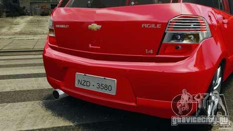 Chevrolet Agile для GTA 4 колёса