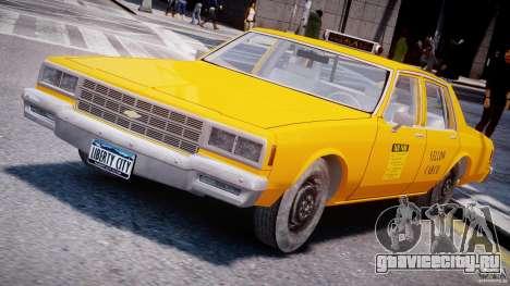 Chevrolet Impala Taxi 1983 [Final] для GTA 4