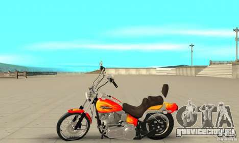 Harley Davidson softail Skin 2 для GTA San Andreas вид слева