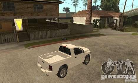 Dodge Ram SRT 10 для GTA San Andreas вид справа