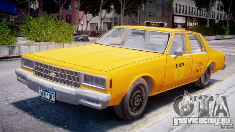 Chevrolet Impala Taxi 1983 для GTA 4 вид изнутри