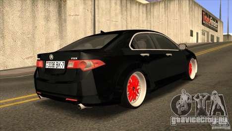 Acura TSX Doxy для GTA San Andreas вид справа