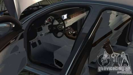Audi A8 2010 V8 FSI для GTA 4 вид изнутри