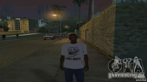 футболка Troll face для GTA San Andreas