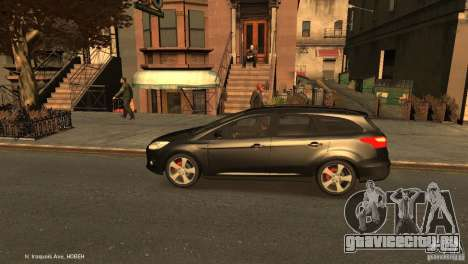 Ford Focus Universal Unmarked для GTA 4 вид слева