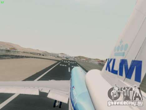 McDonell Douglas DC-10-30 KLM Royal Dutch для GTA San Andreas вид изнутри