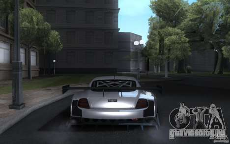 Bentley Continental Super Sport Tuning для GTA San Andreas вид сзади