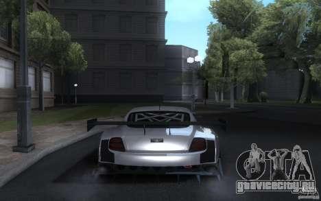 Bentley Continental Super Sport Tuning для GTA San Andreas вид сзади