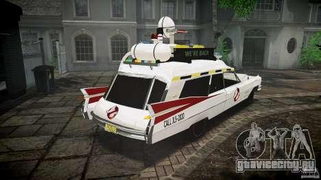 Cadillac Ghostbusters для GTA 4 вид изнутри