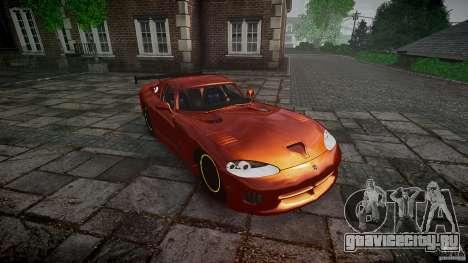 Dodge Viper 1996 для GTA 4 вид сзади