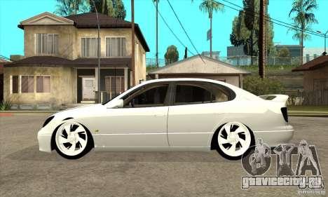 Lexus GS300 V 2003 для GTA San Andreas вид сзади слева