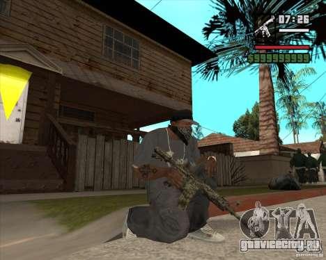 M4A1 Camo для GTA San Andreas третий скриншот