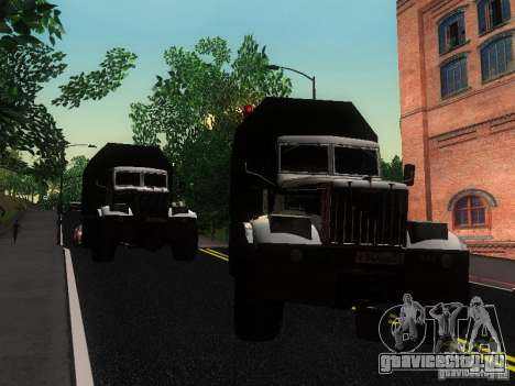 КрАЗ-255Б для GTA San Andreas вид изнутри