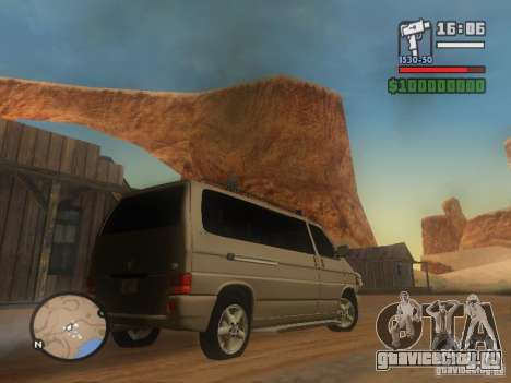 Volkswagen Multivan для GTA San Andreas вид сзади слева