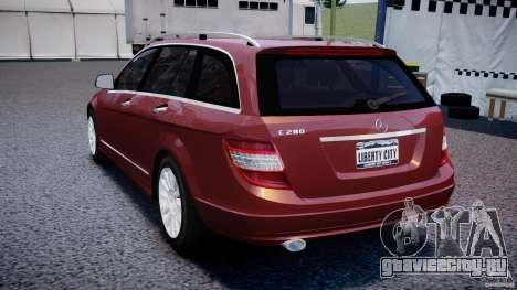 Mercedes-Benz C 280 T-Modell/Estate для GTA 4 вид сзади слева