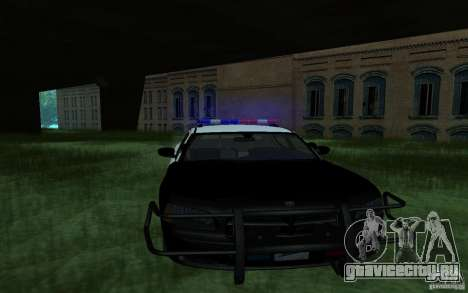 Dodge Charger Police для GTA San Andreas вид сзади слева