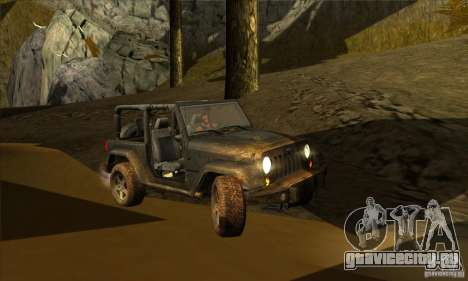 Jeep Wrangler для GTA San Andreas вид изнутри